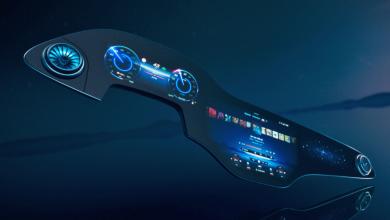 مرسيدس-بنز تكشف عن شاشة بحجم 56 إنش لسيارة EQS الكهربائية القادمة  #CES2021