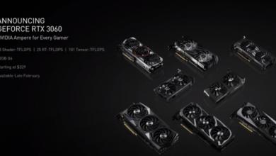 NVIDIA تقدم كرت الشاشة GeForce RTX 3060 بتقنية تتبع الأشعة #CES2021