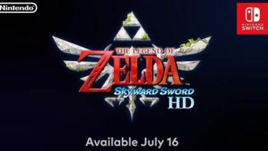 لعبة The Legend Of Zelda: Skyward Sword HD ستصل إلى نينتندو سويتش في 16 يوليو