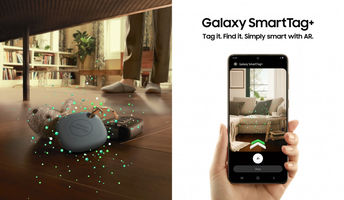 يوفر Samsung Galaxy SmartTag + دعم UWB والتوجيه المرئي للواقع المعزز
