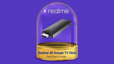 Realme تستعد للإعلان عن عصا البث Realme 4K بميزة تشغيل Google TV