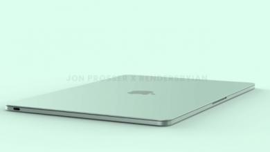 جهاز MacBook Air 2022 من أبل قد يضم نتوء أعلى الشاشة
